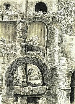 Roman Forum Ruins by Norman Bean