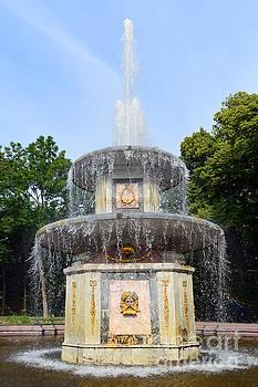 Roman Fountain at Peterhof by Catherine Sherman