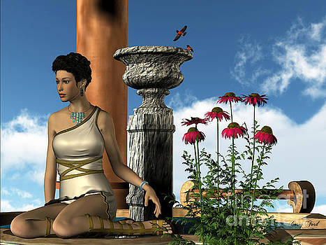Corey Ford - Roman Lady and Flowers