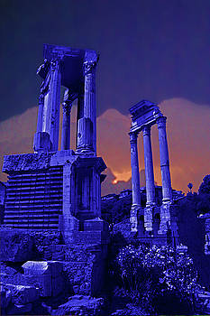 Roman Temple Sunset by Rich Walter