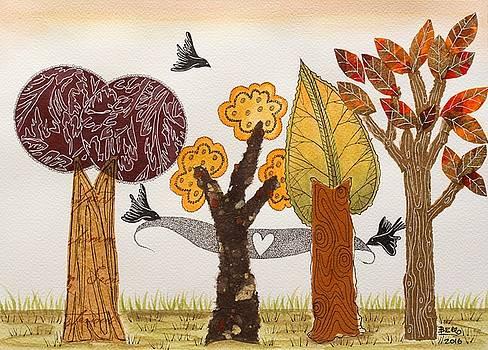 Romantic autumnal grove by Graciela Bello