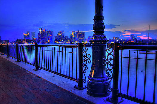 Romantic Boston - Boston Skyline at Night by Joann Vitali