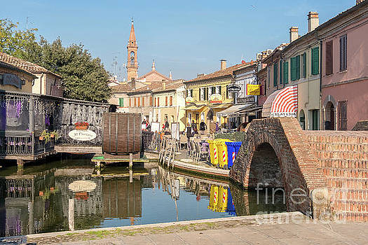 romantic canal restaurant in Comacchio, Emilia Romagna taly by Luca Lorenzelli