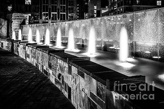 Paul Velgos - Romare Bearden Park Fountain Black and White Photo