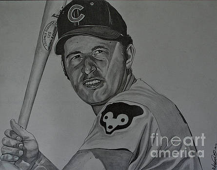 Ron Santo Portrait by Melissa Goodrich