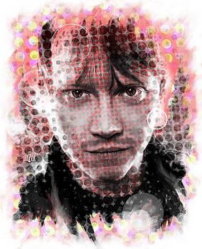 Ron Weasley Halftone Portrait by Garth Glazier