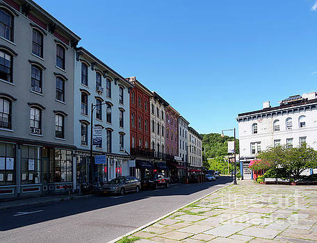 Rondout historic downtown in Kingston New York by Louise Heusinkveld