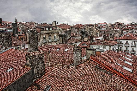 Roofs over Santiago by Angel Jesus De la Fuente