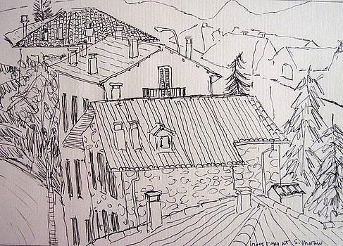 Rooftops at San Marino by Clarence Major