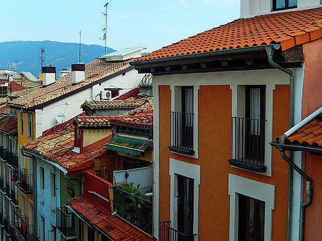 Rooftops in Pamplona by Mike Shaw