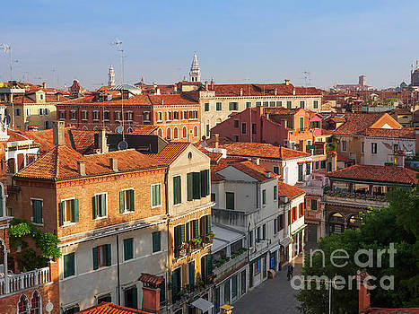 Rooftops of Castello in Venice Italy by Louise Heusinkveld
