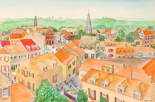 Rooftops of Holland II by Vic Delnore
