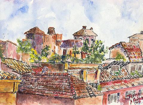 Rooftops of Rome by Albert Fendig