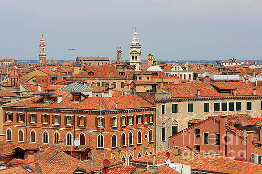 Rooftops of Venice Italy by Louise Heusinkveld