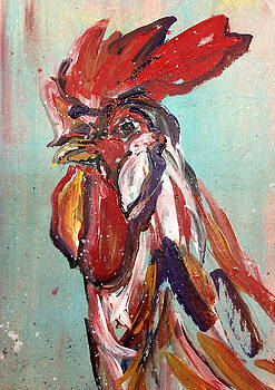 Rooster Headshot by Mary Gallagher-Stout