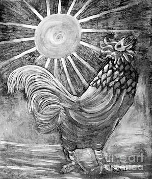 Caroline Street - Rooster in Monochrome