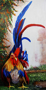 Rooster Looking for Love by Dominica Alcantara