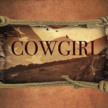 Roping Cowgirl by Michele Carter