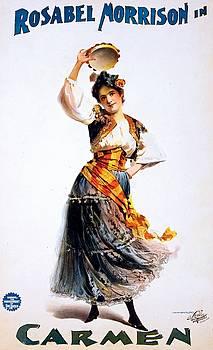 Rosabel Morrison in Carmen, opera poster, 1896 by Vintage Printery