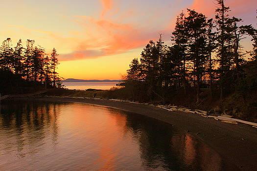 Randall Thomas Stone - Rosario Beach Sunset