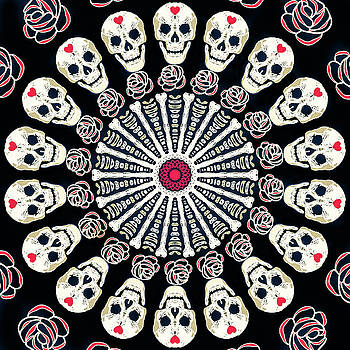 Ronda Broatch - Rose and Bone Mandala of the Heart