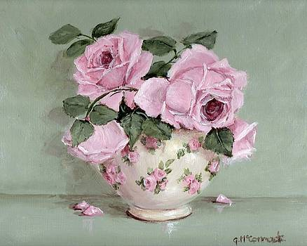 Rose Blooms in a Chintz Bowl by Gail McCormack