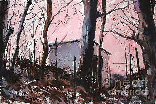 Rose Calm Before the Snows matted glassed framed by Charlie Spear