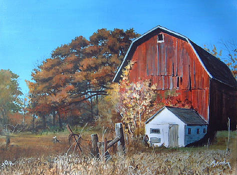 Rose Center Barn by William  Brody