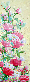 Rose Diptych 1 by Julia Underwood