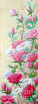 Rose Diptych 2  by Julia Underwood