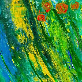 Rose Garden - Abstract Art by Ed Berlyn