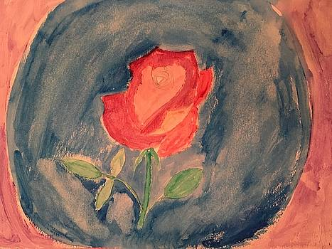 Rose in a Vase by James Shelton