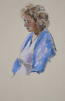 Rose in Her Blue Shawl by Mary McInnis
