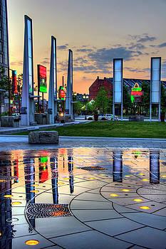 Rose Kennedy Greenway Wharf District - Rings Fountain by Joann Vitali