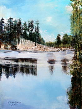 Rose Lake- Another View 2 by M Diane Bonaparte