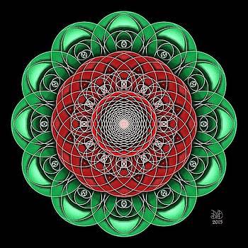 Rose Mandala by David Voutsinas
