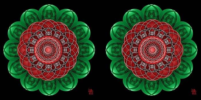 Rose Mandala - Stereogram by David Voutsinas