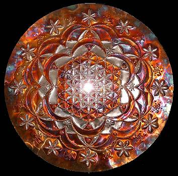 Rose of Life Copper Lightmandala by Robert Thalmeier