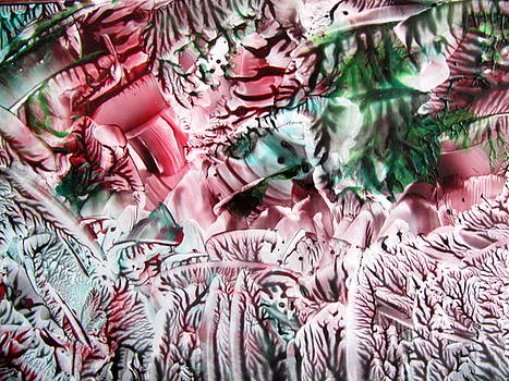 Rose Red Forest Green Abstract by Dallas Manicom