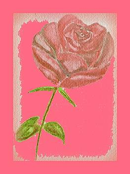 Old Rose Stamp by Ramon Bendita