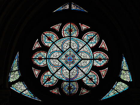 Photographed by Alf van Beem - Rose window of Amiens Cathedral