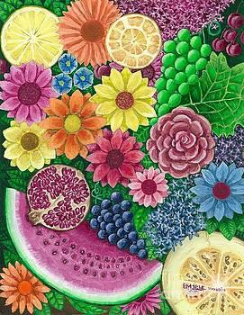 Roses And Fruite by Esam Jlilati