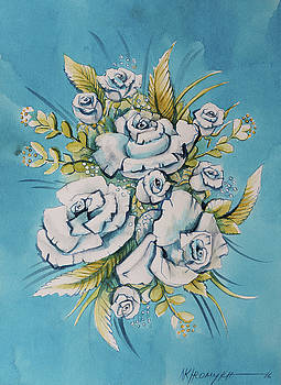 Roses, Blue by Khromykh Natalia