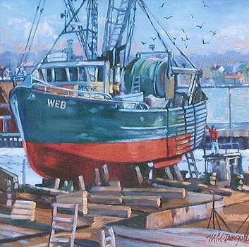 Roses Boat Yard by Michael McDougall