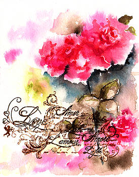 Roses card by Isabel Salvador