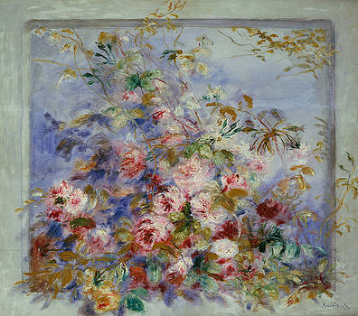 Pierre Auguste Renoir - Roses in a Window