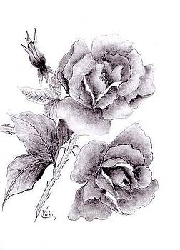 Roses in Full Bloom by Vicki Thompson