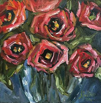 Roses In Red by Angela Sullivan