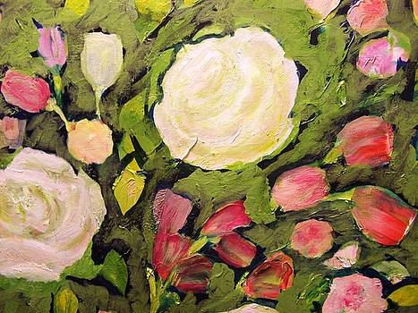 Roses on Green by Patricia Taylor