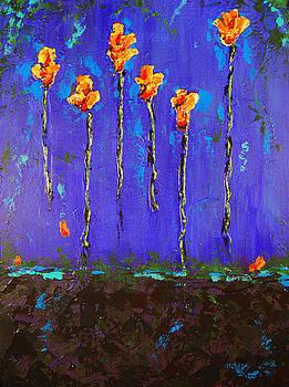 Roses on Indigo by Marabeth Quin